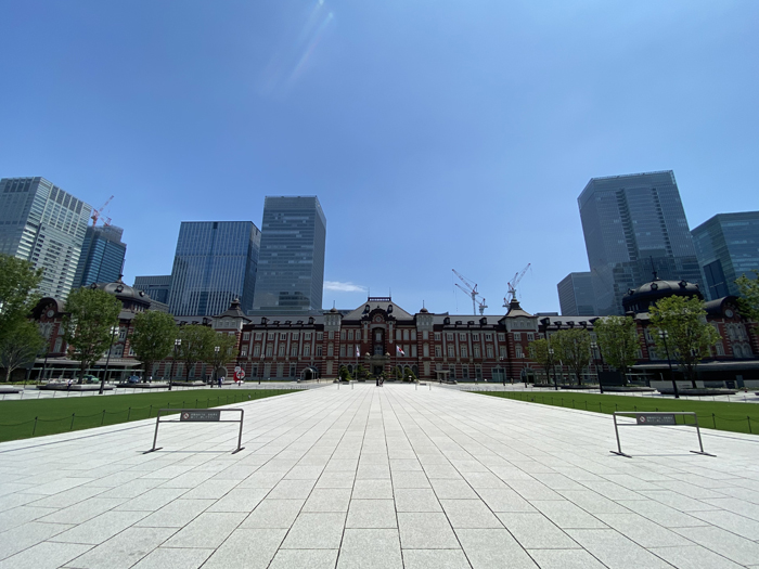 お盆休みの東京駅2020